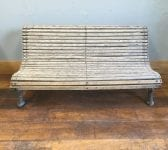 Tightly Slatted Wooden & Cast Iron Bench