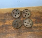 "Cast Iron 9"" Wheels"