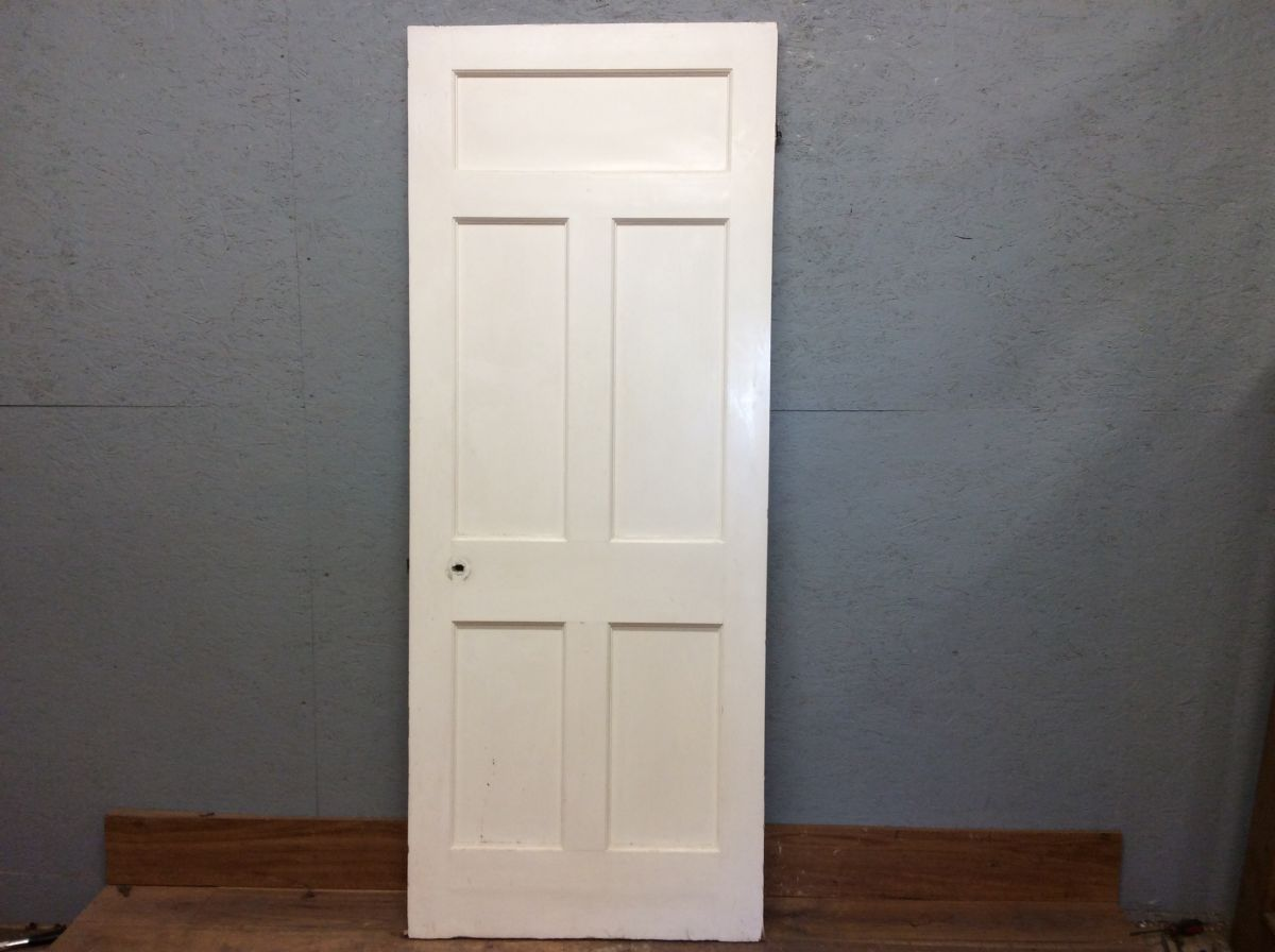 Large 5 Panelled Door in White