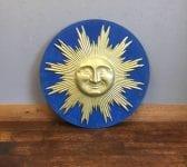 Large Wall Mounted Metal Sun & Face