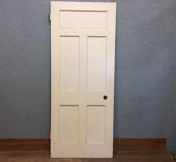 Lrge 5 Panelled White Door