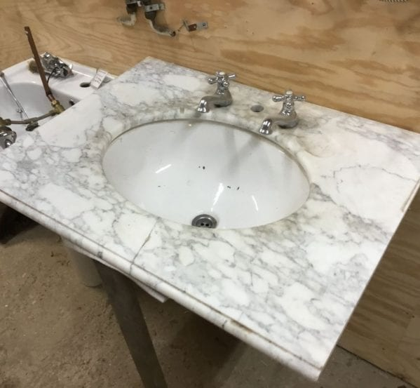 Bracket Reclaimed Marble Sink