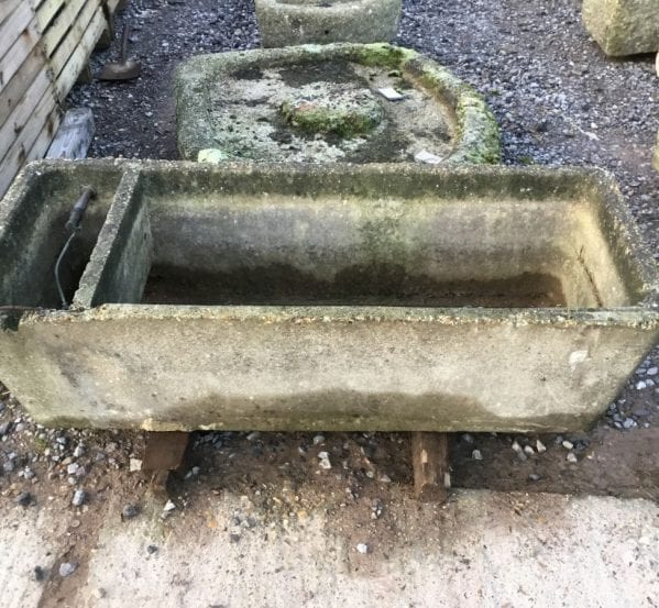 Reclaimed Concrete Partitioned Trough