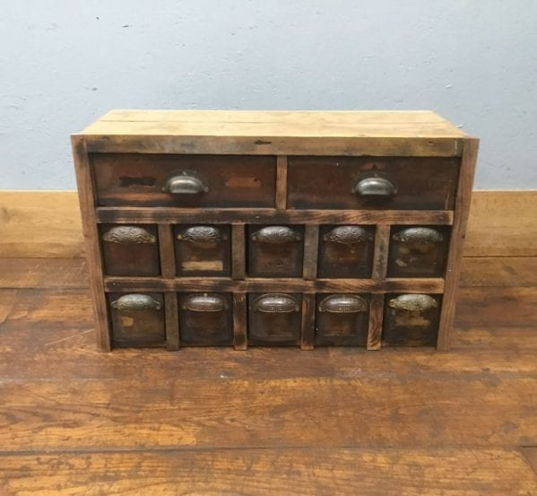 Up-cycled Twelve Drawer Unit