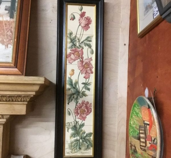 Framed Floral Tile Panel
