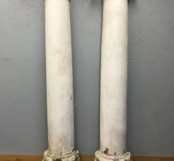 Reclaimed Woode White Painted Pillars