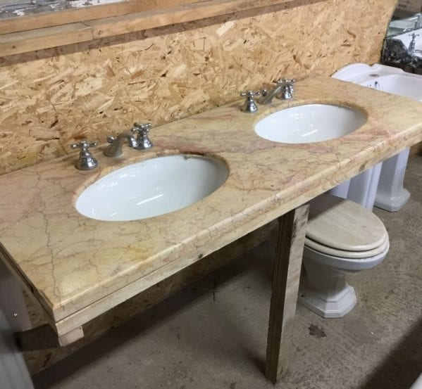 Reclaimed Double Marble Sink