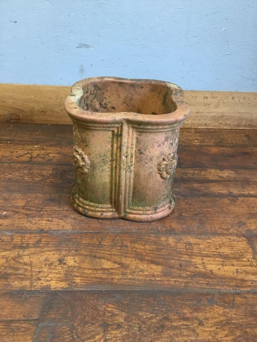 Unique Four Leaf Clover Shaped Terracotta Pot