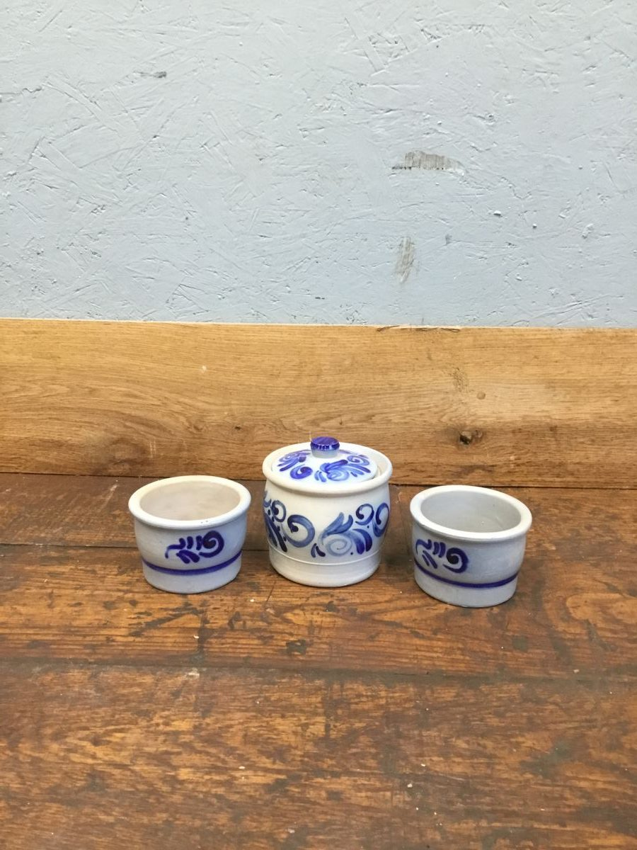 Blue Pottery Set