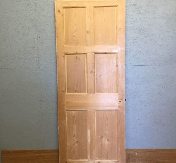 6 Panel Pine Stripped Door