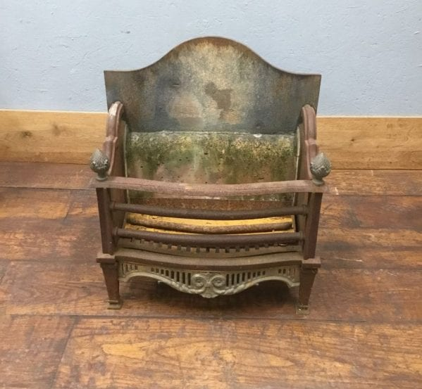 Cast Iron Fire Basket & Back