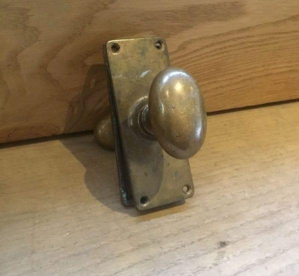 Solid Brass Door Knob & Back Plate