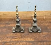 Iron & Brass Detail Fire Dogs