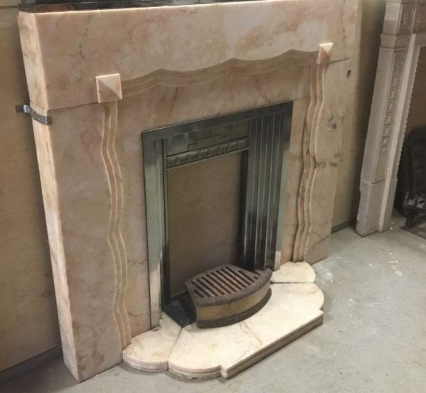 Pink Marble Art Nouveau Fire Surround