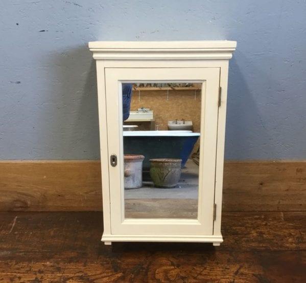 Cream Painted Mirrored Bathroom Cupboard