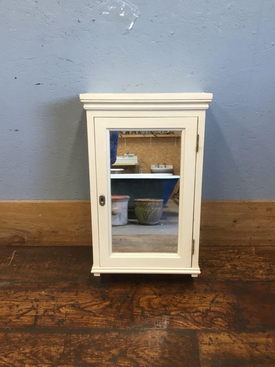 Cream Painted Mirrored Bathroom Cupboard