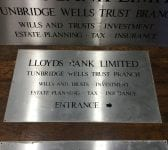 Reclaimed Stainless Steel Lloyds Bank Signs