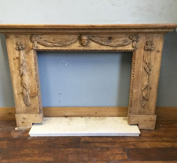 Beautiful Reclaimed Antique Pine Fire Surround