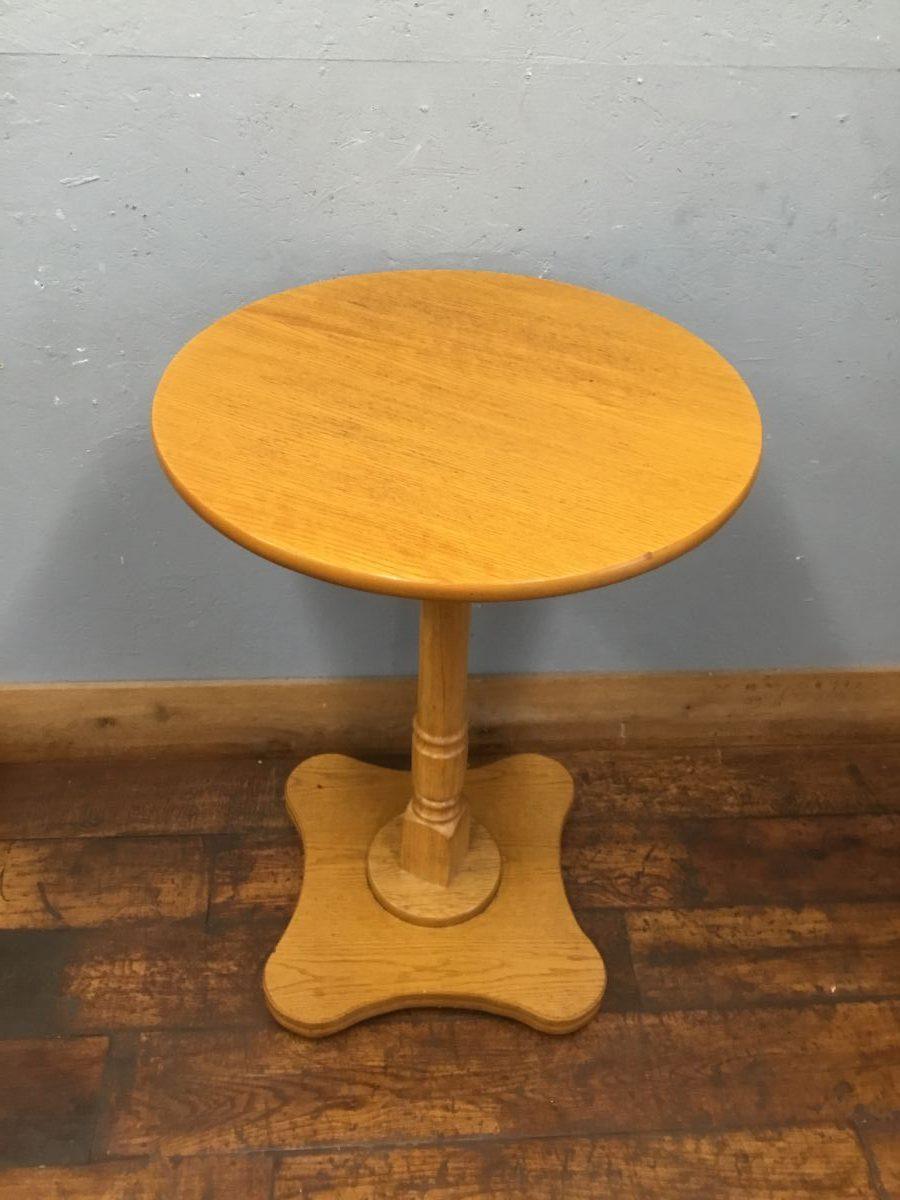 Pale Veneered Poseur Table