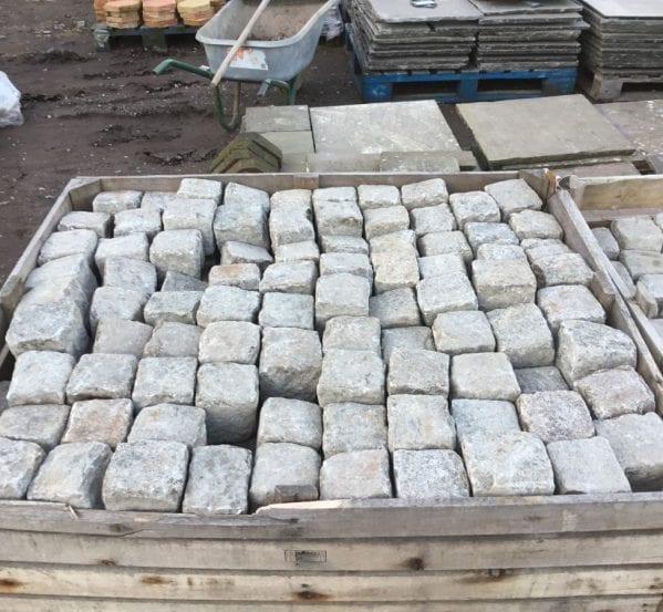"4"" Squared Granite Cobbles"