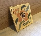 Orange & Green Flower Pattern Tile