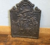 Beautiful Scene Cast Iron Fire Back