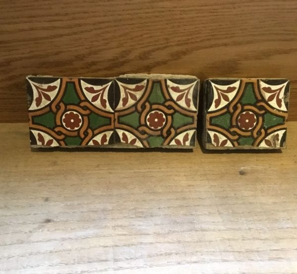 Green & Brown Diamond Detail Tiles