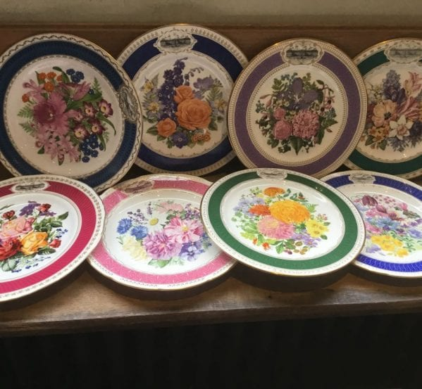 Chelsea Flower Show Plate Collection