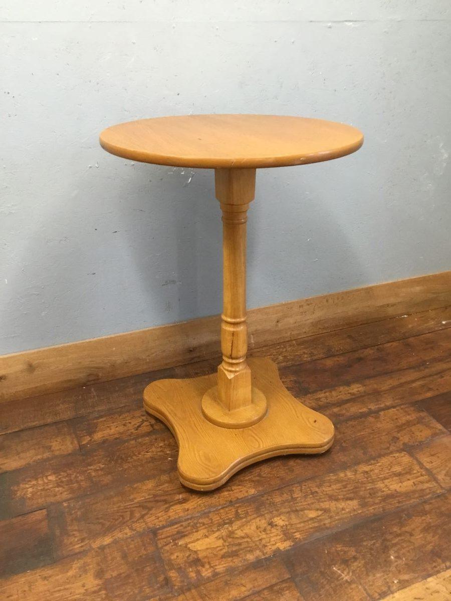 Light Wood Poseur Table