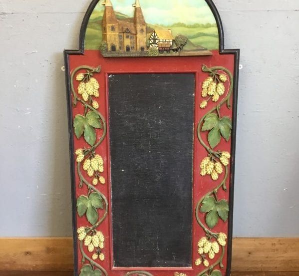Large Carved Detailing Chalkboard
