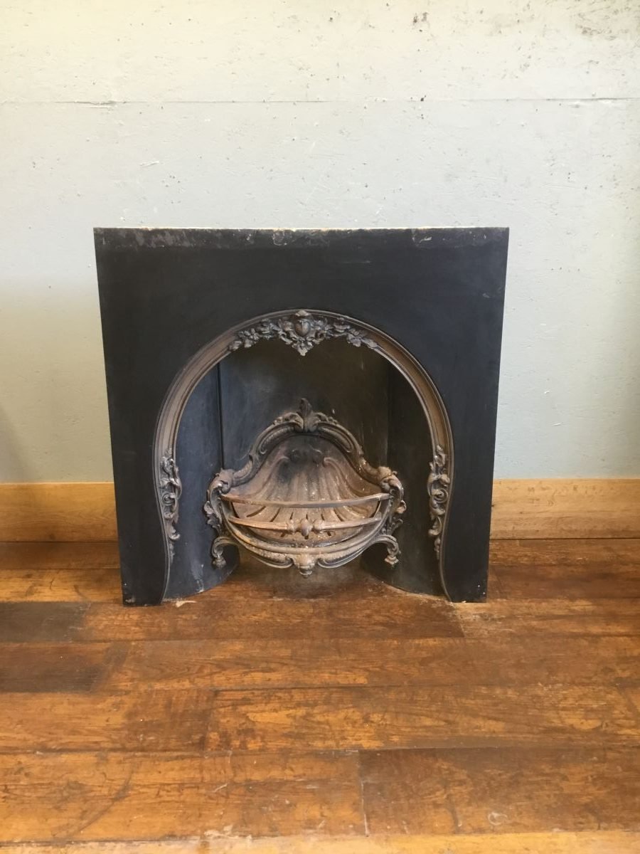 Large Cast Iron Decorative Fire Insert