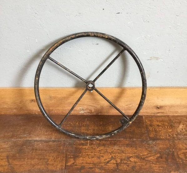 Large Metal Steering Wheel