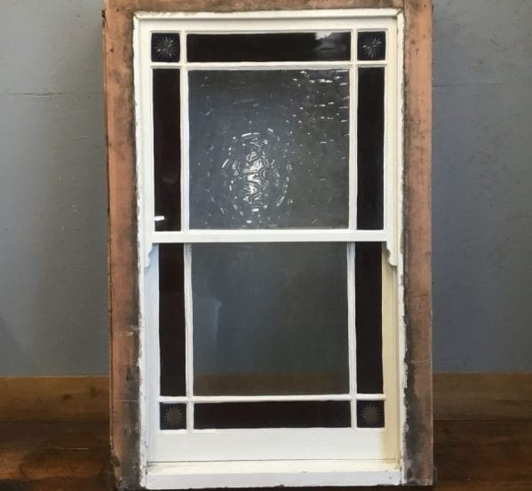Stained Glass Sash Window in Frame