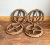 Four Ribbed Cast Iron Wheel