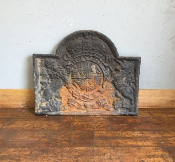 Reclaimed Coat of Arms Fire Back