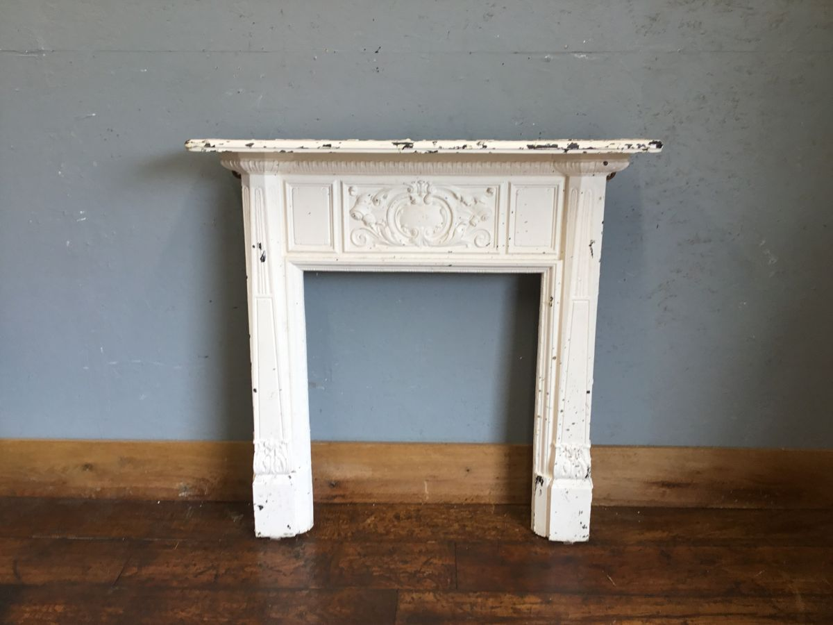 Reclaimed White Painted Fire Surround