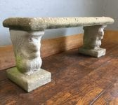 Reclaimed Squirrel Based Stone Bench