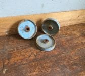 Painted Blue Cast Iron Wheels