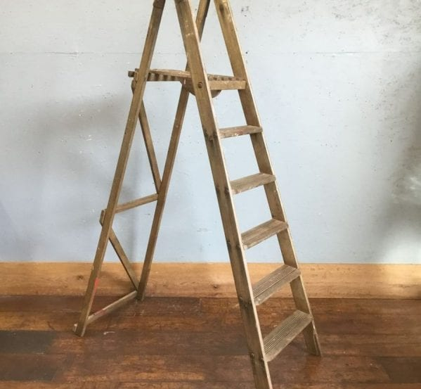 Large Rustic Wooden Ladder