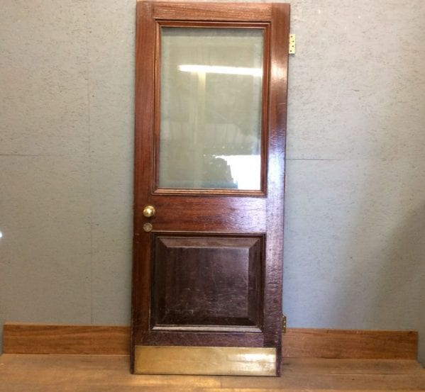 Auction Oak Half Glazed Door