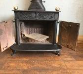 Large Reclaimed Cast Iron Log Burner