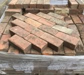 Reclaimed Weathered Red Paving Bricks