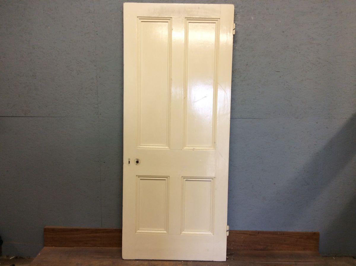 Large Posh White 4 Panelled Door