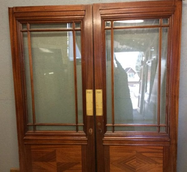 Cream Oak Glazed Double Doors