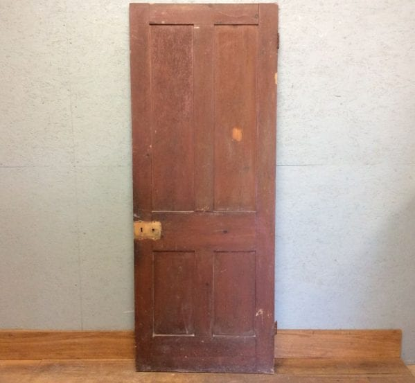 4 Panelled Brown Door