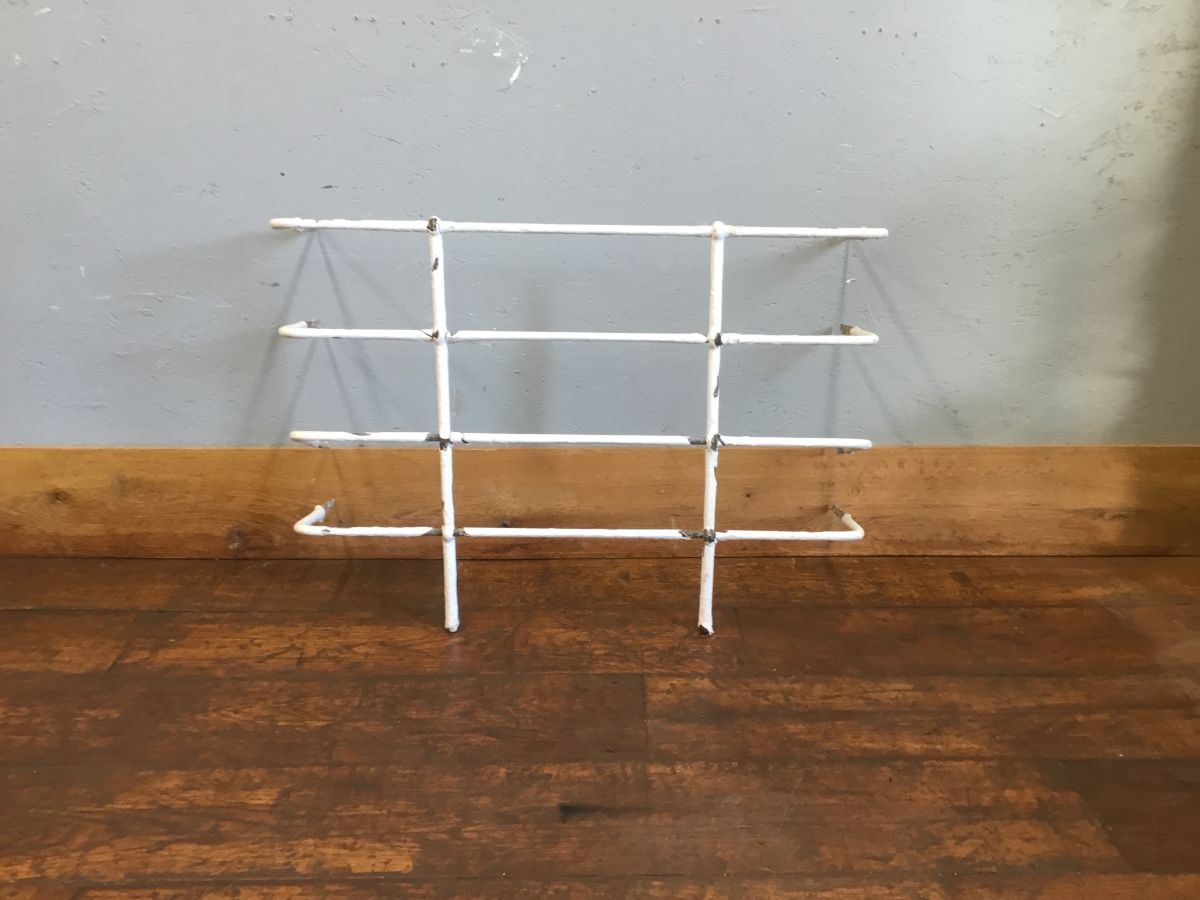 White Painted Iron Hay Cages