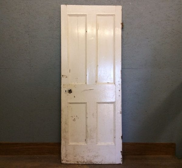 Vintage White 4 Panelled Door