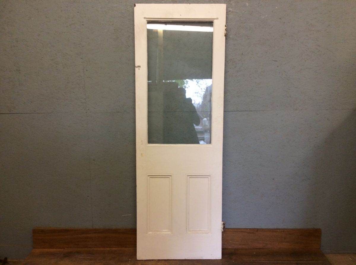 Half Glazed White Door