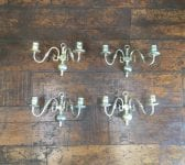 Chrome Plated Candlestick Style Sconces