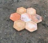 """6 1/2"""" Orange Terracotta French Floor Tiles"""